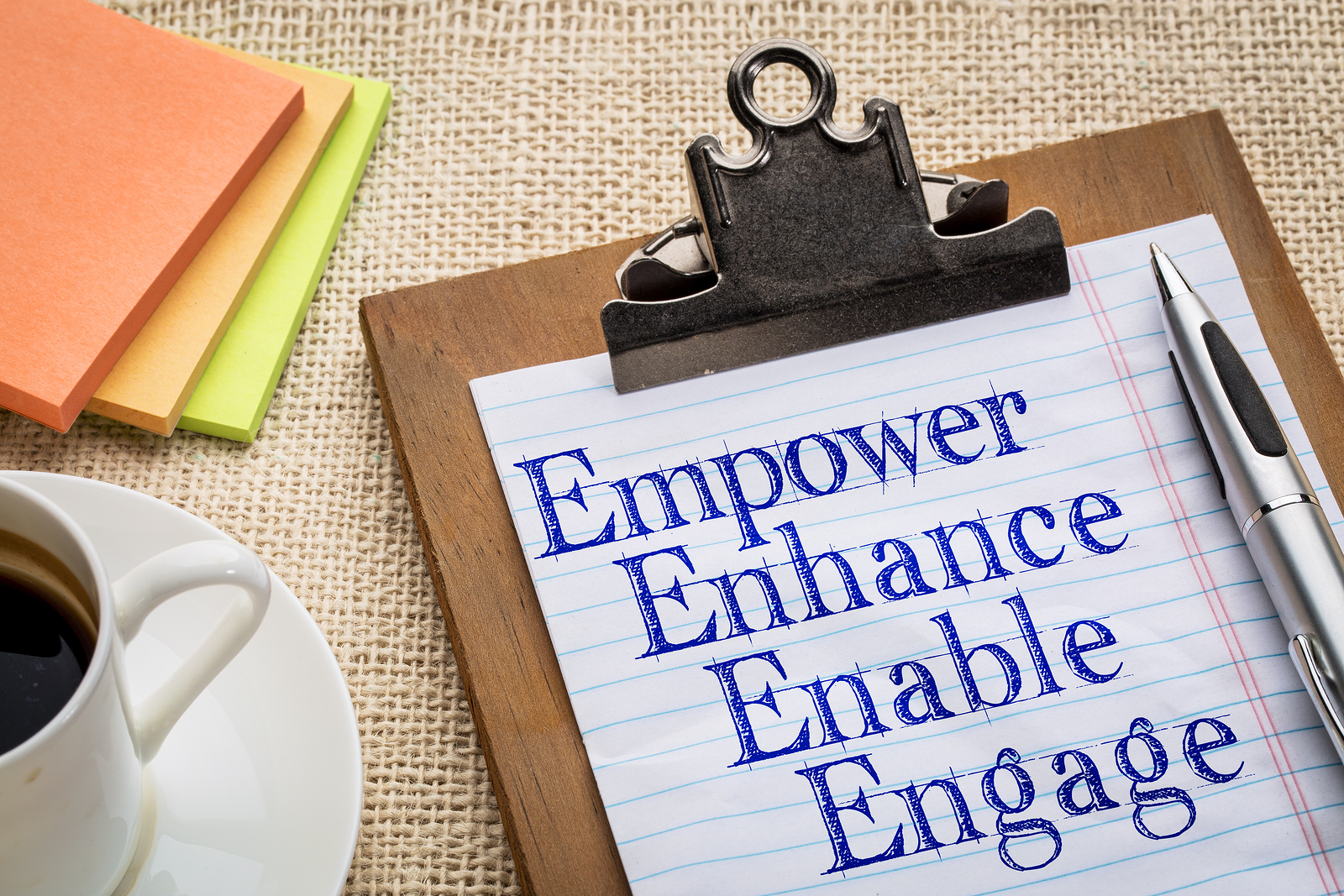 motivational leadership, coaching or business concept - empower,
